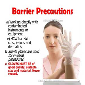 Infection Control, Barrier Precautions and OSHA