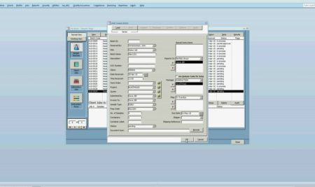 Login Sample in the Laboratory Information Management System